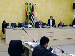 Projetos de iniciativa popular foram votados na sessão desta segunda-feira (30) (Foto: Câmara de Dracena/Cedida)