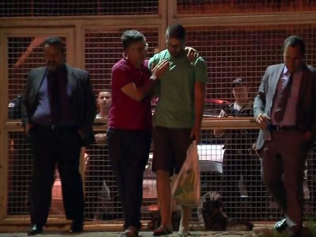 Lucas Gamero, saída, Presídio, Pouso Alegre (Foto: Reprodução/ EPTV)