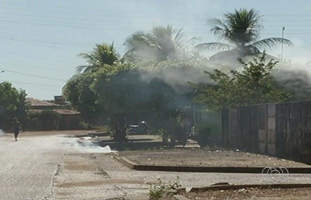 Queimadas prejudicam ainda mais a qualidade do ar, reclamam moradores (Foto: Reprodução/TV Anhanguera)