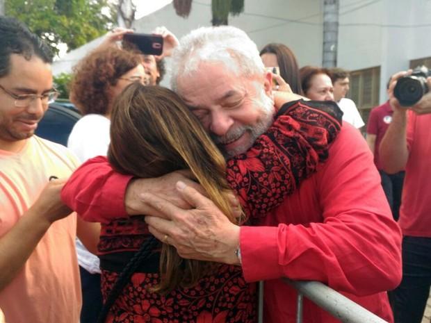 Ex-presidente Lula participa de eventos nesta quinta-feira (22) em Natal (Foto: Fernanda Zauli/ G1)