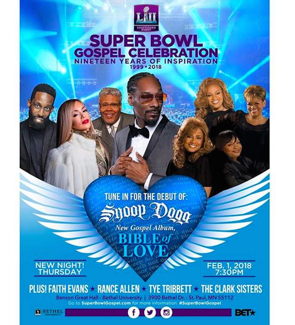 O cartaz do show no qual Snoop Dogg revelará as primeiras canções de seu álbum gospel (Foto: Instagram)