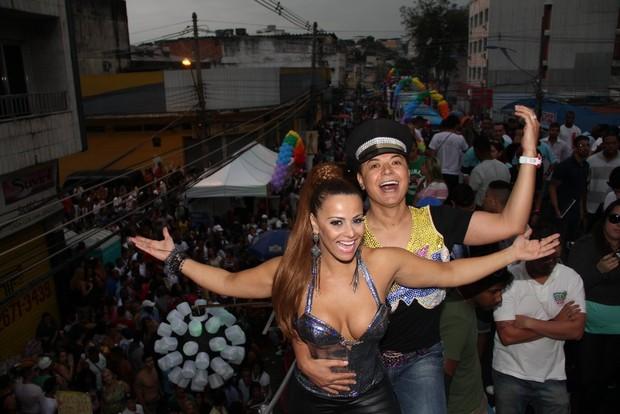 David Brazil e Viviane Araújo (Foto: Rodrigo dos Anjos / AgNews)