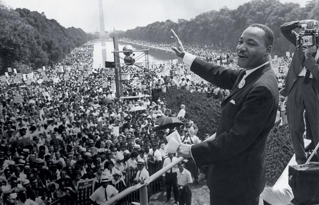 1963 Martin Luther King, diante de 250 mil pessoas, prestes a fazer história (Foto: Hulton Archive/Getty Images)