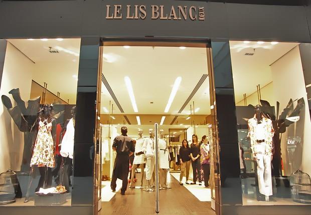 e554b6f0d Fachada da rede de moda feminina Le Lis Blanc (Foto  Divulgação)