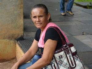 Agricultora participou de ocupação do MAB em Porto Velho (Foto: Matheus Henrique/G1)