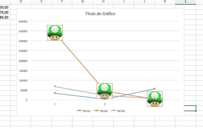 Modifique os marcadores no Excel (Foto: Reprodução/André Sugai)