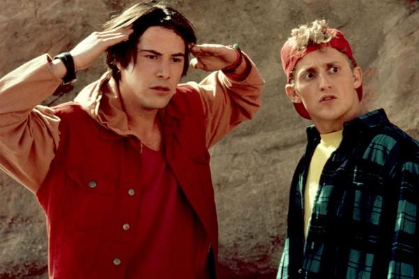 Keanu Reeves e Alex Winter em cena de Bill & Ted (1989) (Foto: Reprodução)