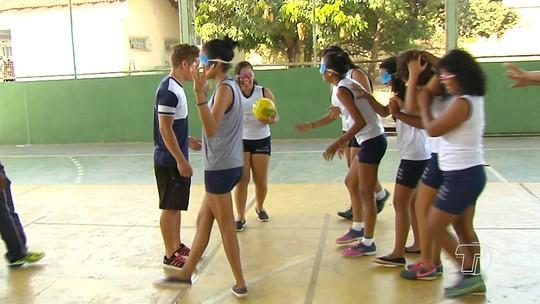 Resultado de imagem para Em Santarém, alunos de escola pública são apresentados ao Golbol