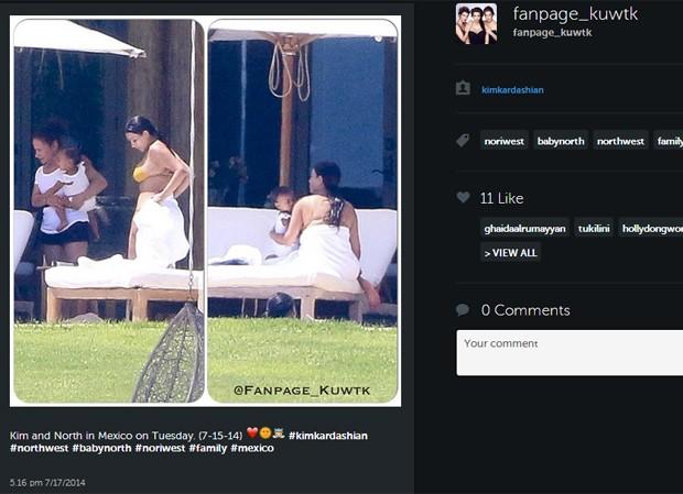 Kim Kardashian curte o México com a filha, North West (Foto: Reprodução/Instagram)