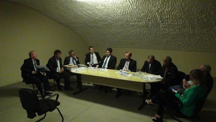 Julgamento do Murici, no auditório do Rei Pelé (Foto: Denison Roma / GloboEsporte.com)