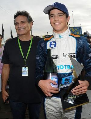 Nelson Piquet e Pedro Piquet Fórmula 3 (Foto: Bruno Terena)