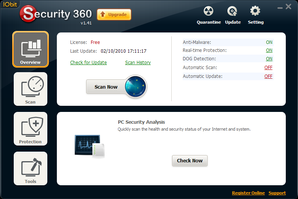 Interface IObit Security 360