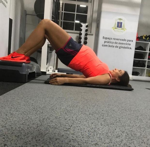 Ivete continua se exercitando durante a gestação (Foto: Reprodução/Instagram)