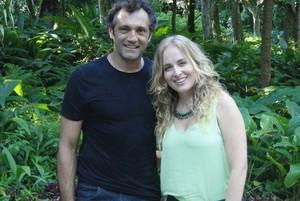 Domingos Montagner e Angélica em gravação do 'Estrelas' (Foto: Gshow)