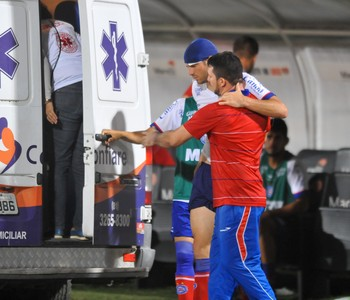 Lucas Fonseca Santa Cruz x Bahia Copa do Nordeste (Foto: Aldo Carneiro / Pernambuco Press)