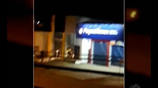 Moradores de Canaã dos Carajás registram com celulares momentos de pânico em assalto ao banco