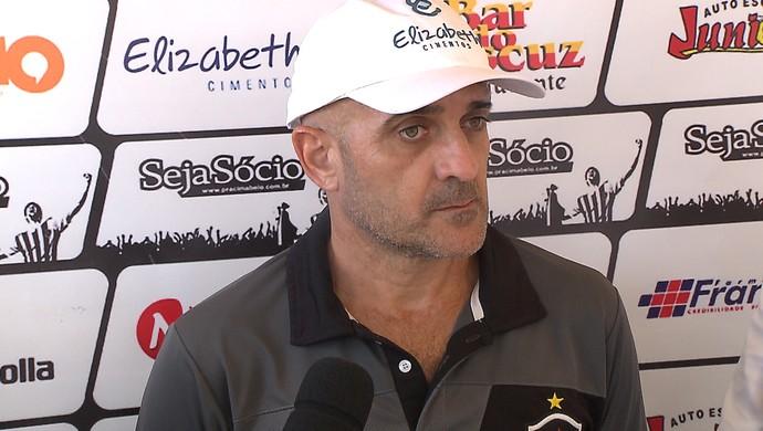 Itamar schulle, técnico do Botafogo-PB (Foto: Reprodução / TV Cabo Branco)
