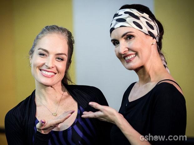 Angélica e Fátima arrasam na coreografia (Foto: Camila Camacho/TV Globo)