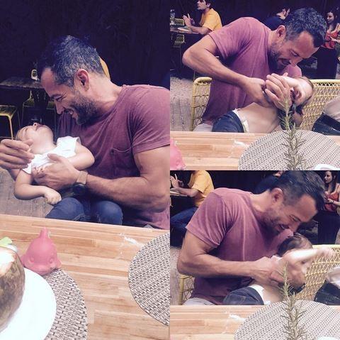Malvino Salvador se diverte com a  filha Ayra (Foto: Reprodução do Instagram)