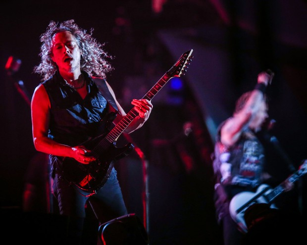 Metallica se apresenta no palco Mundo (Foto: Francisco Cepeda / AgNews)
