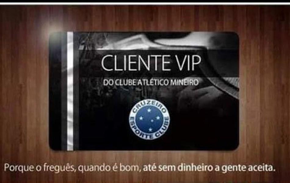 Depois de derrota no clássico, torcedores do Atlético-MG postam montagens para provocar o Cruzeiro