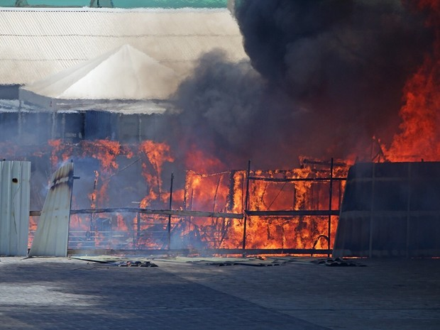 Parque Olímpico pegou fogo nesta quinta-feira (Foto: Antônio Pinheiro / Arquivo Pessoal)
