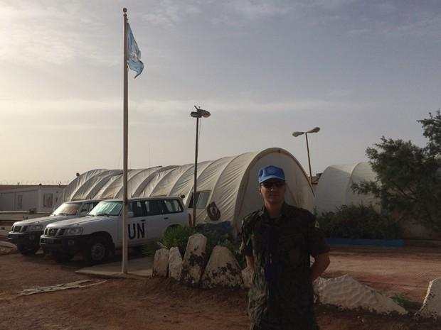 Major Adriano Azevedo é voluntário de Missão de Paz da ONU (Foto: Divulgação/Aeronáutica)