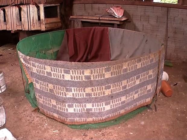 Dentro do barracão, fiscais localizaram um ringue, que deve ser periciado (Foto: Reprodução/TVCA)