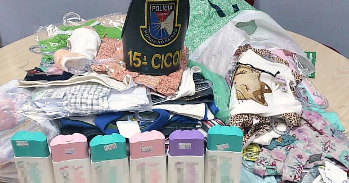 45d11a5aa G1 - Trio é preso após roubar roupas infantis para amiga grávida, diz PM-AM  - notícias em Amazonas