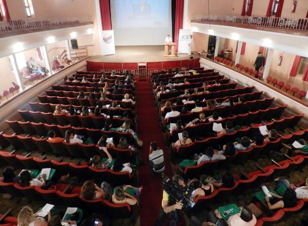 Projeto EPTV na Escola é lançado em Varginha (Foto: Lucas Magalhães/EPTV)