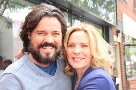 Felipe Camargo e Kim Cattrall (Foto: Arquivo pessoal)