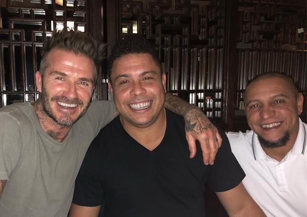 David Beckham, Ronaldo e Roberto Carlos (Foto: Agência Brazil News)