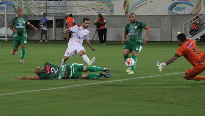 Gol Álvaro América-RN x Salgueiro (Foto: Fabiano de Oliveira)