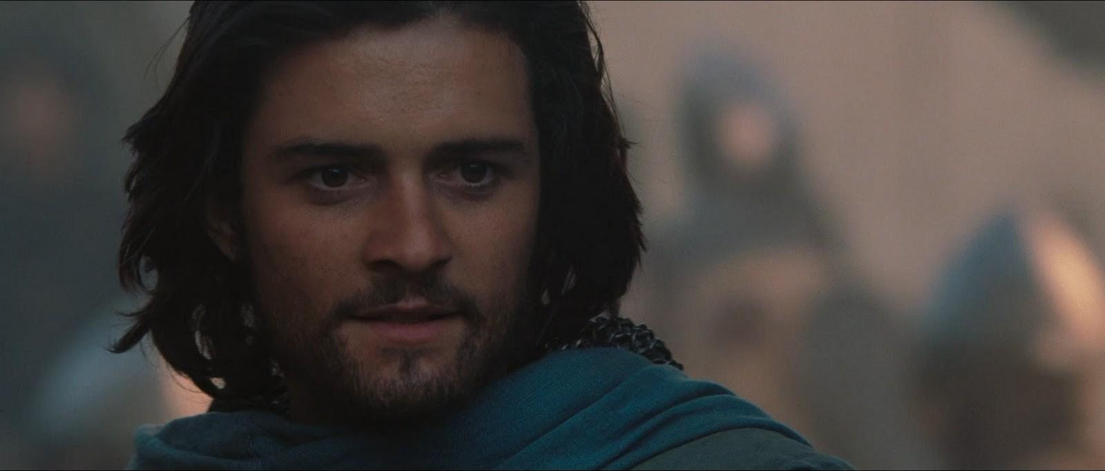 Orlando Bloom no set de 'Cruzadas'. (Foto: Divulgação)