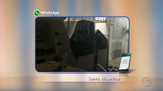 Criminosos invadem e explodem bancos em Santa Albertina