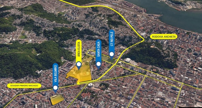 Arena Santos  (Foto: Reprodução )