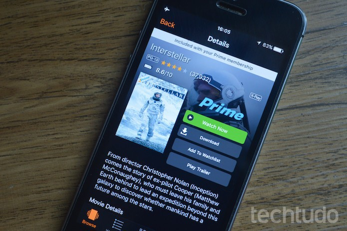 Como usar Amazon Prime Video para assistir a filmes e séries no celular (Foto: Marvin Costa/TechTudo)