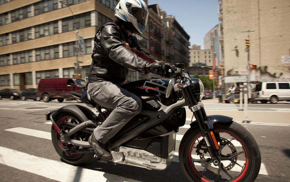 Harley-Davidson LiveWire elétrica (Foto: Peter Reitzfeld / Divulgação)