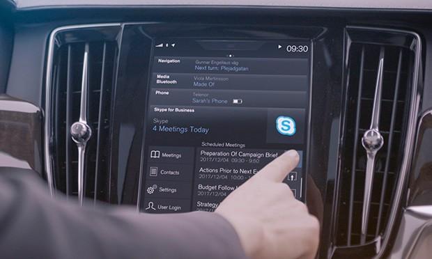 Modelos Volvo serão equipados com Skype (Foto: Volvo)