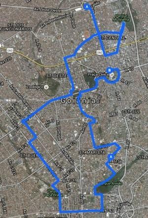 Divulgado percurso do revezamento da tocha olímpica em Goiânia (Foto: Divulgação)