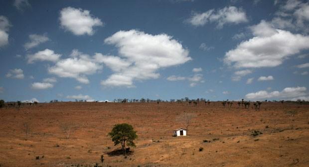Propriedade entre Iaçu e Amargosa. Muitas famílias deixam suas terras para buscar recursos em outros municípios (Foto: Flavio Forner/BBC)