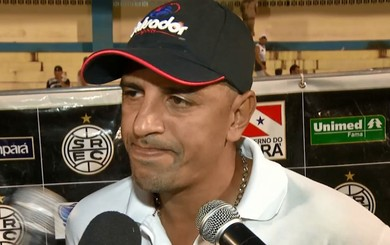 Lecheva, treinador do São Raimundo (Foto: TV Tapajós/Reprodução)