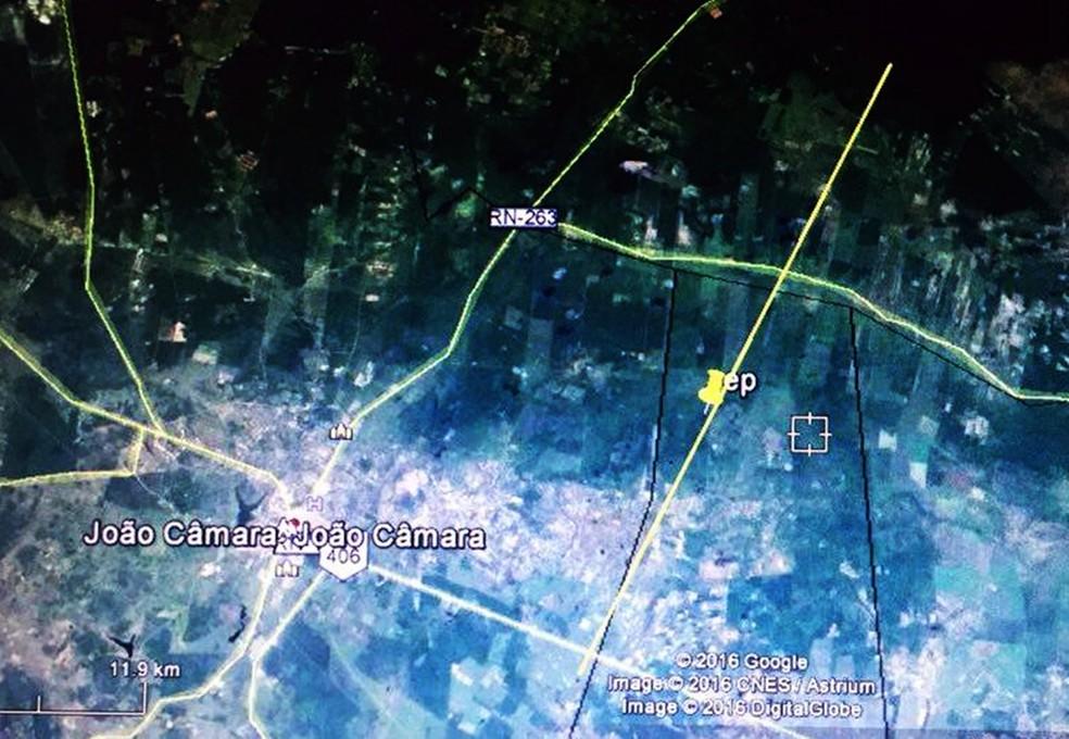 Cidade de João Câmara fica localizada na falha geológica da Samambaia (Foto: Reprodução/LabSis)
