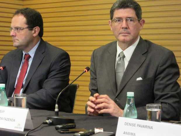 O ministro da Fazenda, Joaquim Levy, durante evento em São Paulo (Foto: Darlan Alvarenga/G1)