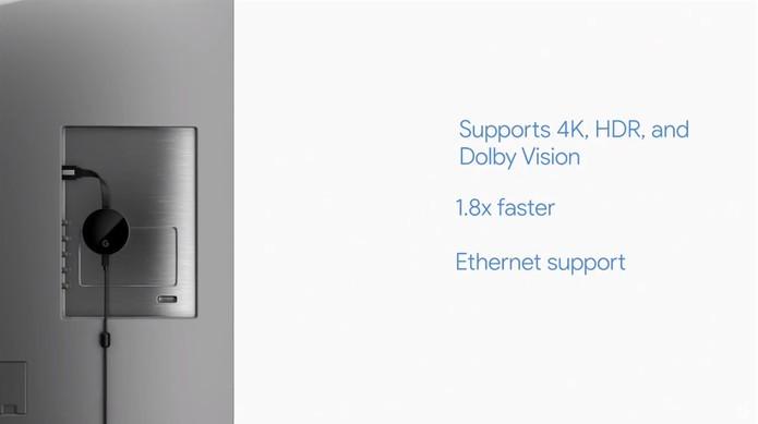 Chromecast Ultra trará os filmes 4K para a sua TV (Foto: Reprodução/YouTube)