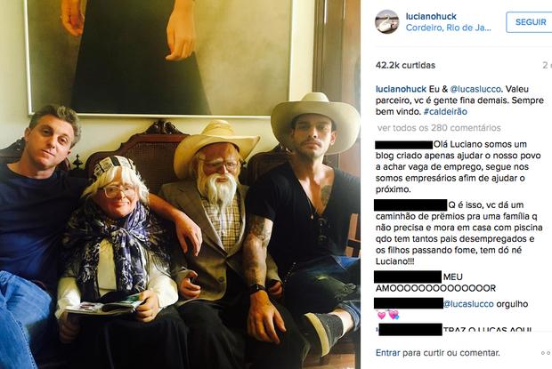 Luciano registrou ida a cidade nas redes sociais (Foto: Reprodução/ Instagram)
