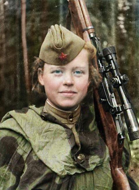 Sniper soviética (Foto: Olga Shirnina)