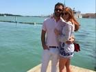 Marina Ruy Barbosa curte Veneza com namorado: 'Meu amor'