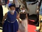 Crianças com câncer assistem à corrida e ganham festa, em Goiânia