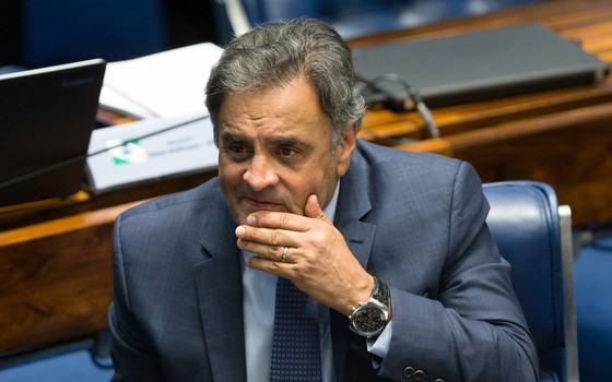 O senador afastado Aécio Neves (Foto: Lula Marques/AGPT)